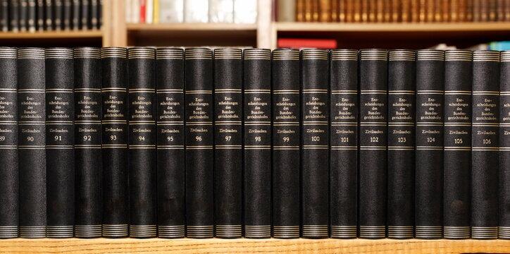 Full Frame Shot Of Books On Shelf In Library