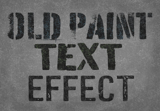 Old Paint Text Effect Mockup
