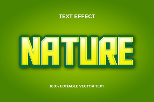 3d  text effect nature light green text effect with an editable file