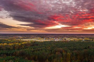 Zachód słońca nad Żarami.