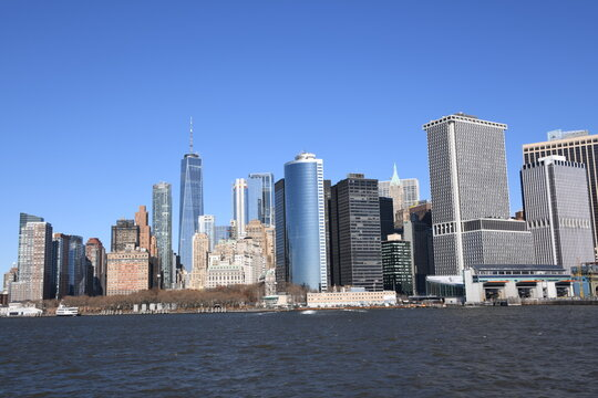 Ein atemberaubender Blick auf die Südspitze von Manhattan, New York.