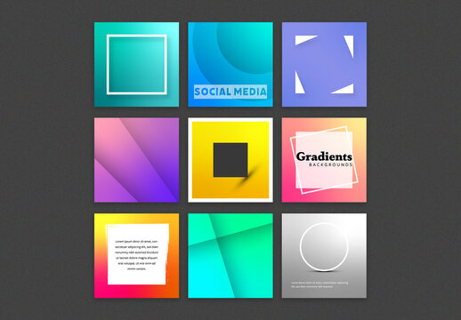 Abstract Backgrounds for Social Media Post Layouts