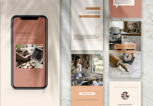 Minimalistic Social Media Stories Template in Warm Shades