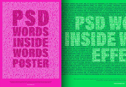 Type Mask Poster Design