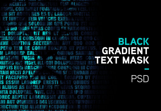 Gradient Text Mask Effect