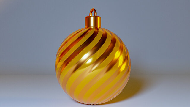 3D rendering of christmas ball concept