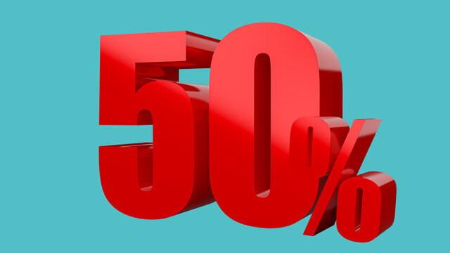 50 percent for discount or promotion of 3D rendering