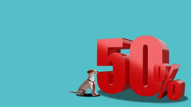 50 percent for discount or promotion