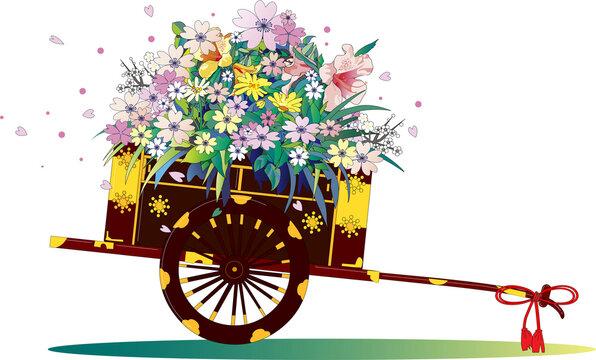 日本の伝統的な花車