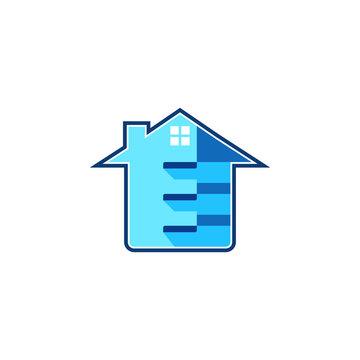 split home/house, room, cut vector logo design