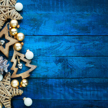 Art Christmas decoration; banner background with copyspace