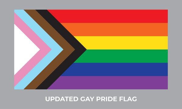 Updated gay pride flag icon. New LGBTQ+ rights symbol