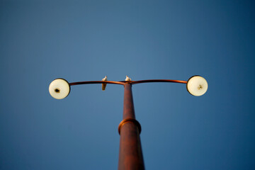 street lamp on sky Fotomurales