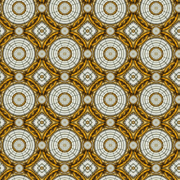 Elegant vector classic seamless pattern. Seamless abstract ornament with repeating elements. Black and golden pattern.