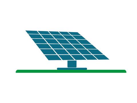 Solarpanel Vektor isoliert auf weißen Hintergrund