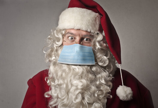 portrait of santa claus with mask