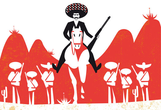 Emiliano Zapata vector illustration
