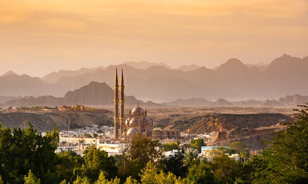 Panorama od old town , mountains of Sharm El Sheikh. Egypt.