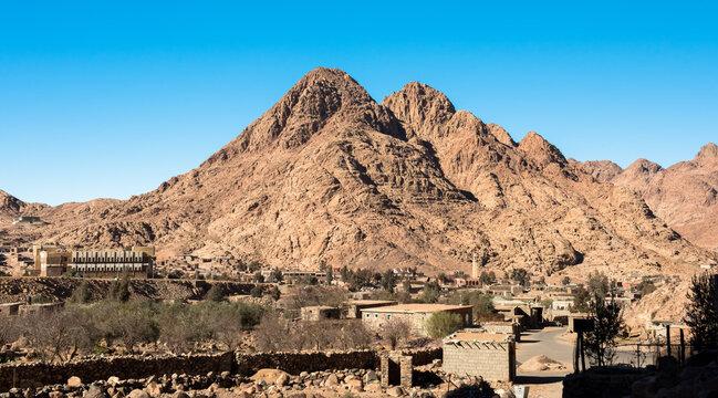 Egyptian landscape, Bedouin village in Sinai desert