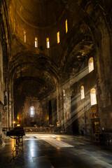 Fototapeta Interior of Tatev Monastery, a 9th-century Armenian Apostolic monastery in Syunik Province.