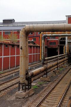 Coal train running on railway, Tangshan, China