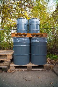 oil barrels storage