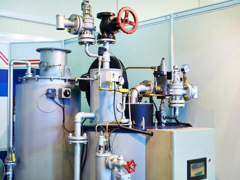 Steam boiler for factory