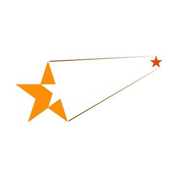 Star icon logo sign isolated on white background
