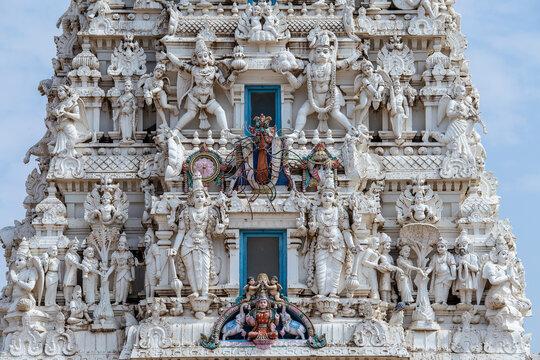Detail of sacred Hindu Temple, Pushkar, Rajasthan, India