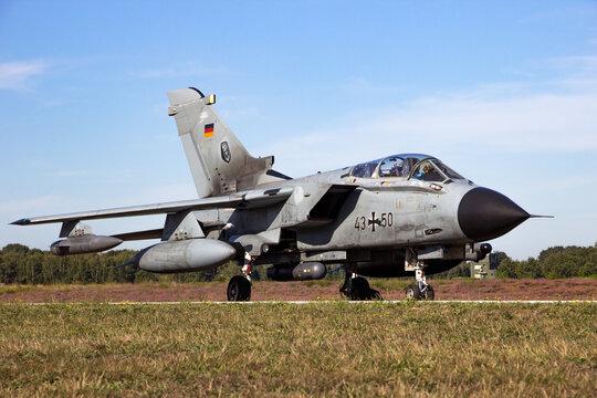 Panavia Tornado bomber jet from the German Air Force at Kleine-Brogel airbase. Belgium - September 14, 2019