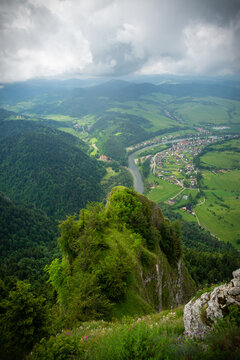 view on Pieniny mountain in Poland