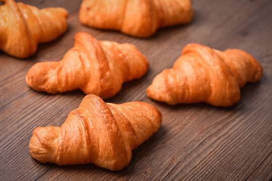 Original Homemade French croissants with butter