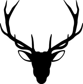 Deer head vector - Deer antlers svg - Deer cut files
