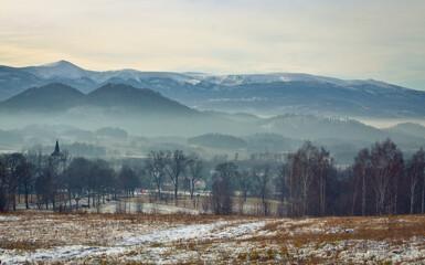 Karkonosze Polskie Góry Panorama Karkonoszy
