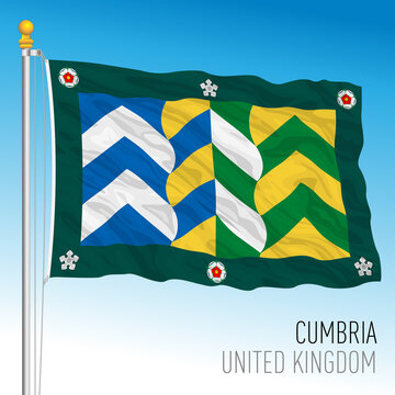 Cumbria county flag, United Kingdom, vector illustration