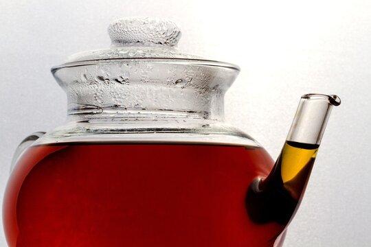 Black Tea in Glass Teapot