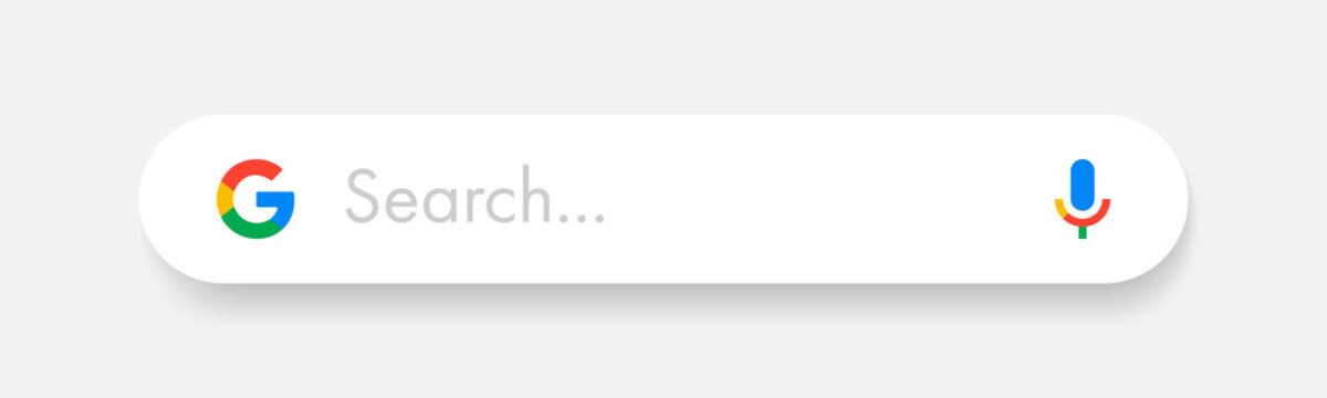 Google search bar vector