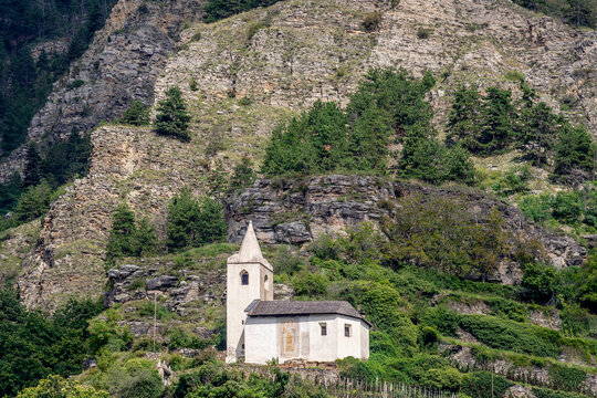 St. Egidius is a Roman Catholic church above the village of Kortsch in the municipality of Schlanders in South Tyrol, Italy