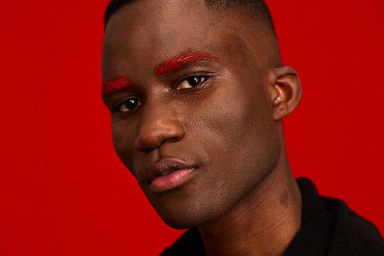 Intense red portrait