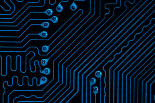 Abstract circuit board cyberpunk background