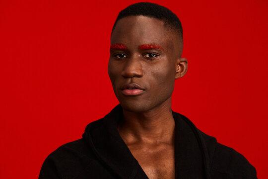 Fashion portrait with creative make up