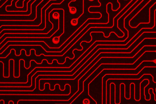 Abstract red circuit board background
