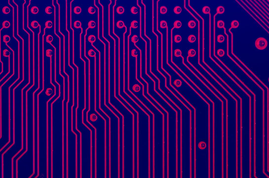 Violet circuit network background