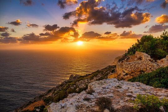 Cliffs of Dingli at sunset