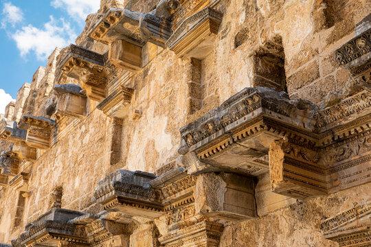The ancient Aspendos amphitheater near Antalya city. Aspendos, Turkey