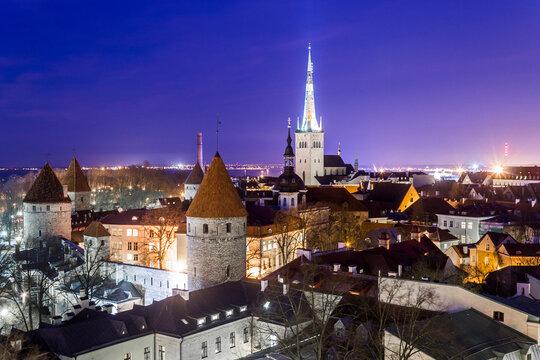 Tallinn, Estonia. The Old Town of Tallinn, capital of Estonia. A World Heritage Site