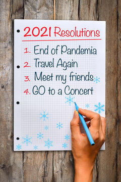 2021 Year resolutions of wish list adjusted due to Covid pandemic