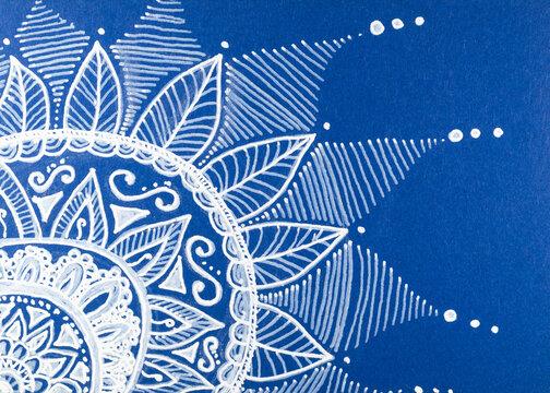 Blütendetail in Zentangle Darstellung