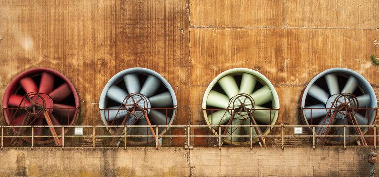 Ventilatoren im Kühlwerk im Landschaftspark Duisburg,