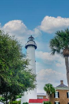 Saint Simons Lighthouse Beyond Trees